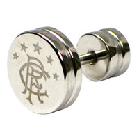 Rangers - Stainless Steel Stud Earring (Silver) - Cover