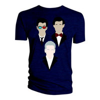 Doctor Who 10th 11th 12th Vector Triangle Men's Navy T-Shirt (Small) - Cover