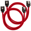 Corsair - Premium Sleeved SATA 6Gbps 60cm Cable - Red