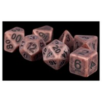 Metallic Dice Games - Set of 7 Polyhedral 16mm Metal Dice - Antique Copper - Cover