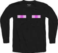 Minecraft - Enderman Youth Long Sleeve Shirt - Black (5-6 Years) - Cover