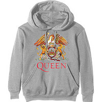 Queen Classic Crest Men's Grey Hoodie (X-Large) - Cover
