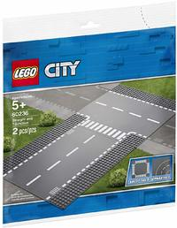 LEGO® City - Straight and T-junction (2 Pieces) - Cover