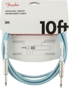 Fender Original Series 3m 1/4 Inch Jack Instrument Cable (Daphne Blue)
