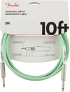 Fender Original Series 3m 1/4 Inch Jack Instrument Cable (Surf Green)