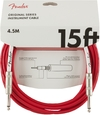 Fender Original Series 4.5m 1/4 Inch Jack Instrument Cable (Fiesta Red)