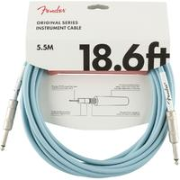 Fender Original Series 5.5m 1/4 Inch Jack Instrument Cable (Daphne Blue)