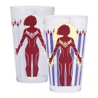 Captain Marvel - Protector of the Skies Cold Changing Glass Tumbler - Cover