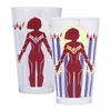 Captain Marvel - Protector of the Skies Cold Changing Glass Tumbler