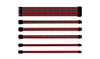 Cooler Master - Universal PSU Extension Cable Kit - 30cm 16AWG Wire Type - Universal Connectors - Black & Red
