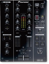 Pioneer DJM-350 2-Channel DJ Mixer with Effects (Black)