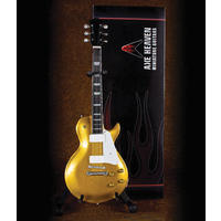 Axe Heaven - Les Paul Gold Miniature Guitar Custom Waukesha (Collectible Mini Instrument)