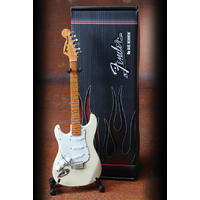 Axe Heaven - Cream Mini Strat Reverse Headstock Lefty Replica (Collectible Mini Instrument)