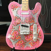 Axe Heaven - Telecaster Pink Paisley Mini (Collectible Mini Instrument)