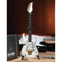 Axe Heaven - Steve Vai Signature White Jem Mini Guitar Replica (Collectible Mini Instrument)
