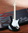 Axe Heaven - Strat Classic Black Finish Miniature Guitar (Collectible Mini Instrument)