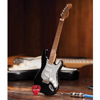 Axe Heaven - Strat Black Vintage Distressed Miniature (Collectible Mini Instrument)