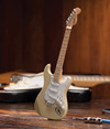 Axe Heaven - Strat Cream Finish Miniature Guitar Replica (Collectible Mini Instrument)