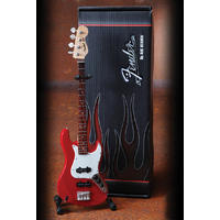 Axe Heaven - Jazz Classic Red Finish Miniature Bass (Collectible Mini Instrument)