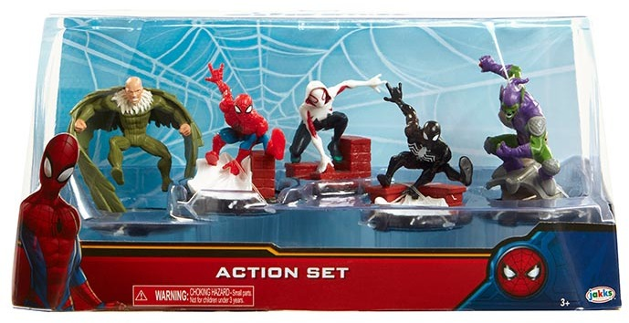 Spider-Man Homecoming Spider-Man Action Set 2-Inch 5-Piece PVC Figure Play Set