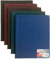 Flip File - Executive Leather Look Display Book - 50 Pocket (Blue)