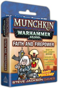 Munchkin - Warhammer 40,000 - Faith and Firepower Expansion (Card Game) - Cover