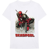 Marvel Deadpool Bullet Men's White T-Shirt (X-Large) - Cover