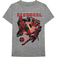 Marvel Deadpool Collage 1 Men's Grey T-Shirt (XX-Large) - Cover