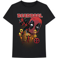 Marvel Deadpool Collage 2 Men's Black T-Shirt (Large) - Cover