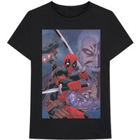Marvel Deadpool Composite Men's Black T-Shirt (Large) - Cover