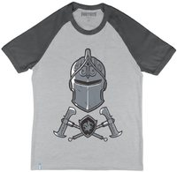 Fortnite - Black Knight - Teen T-Shirt - Grey/Charcoal (13-14 Years) - Cover