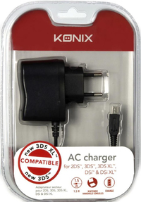Konix - Wall AC Charger (for Nintendo DSi, DSi XL, 3DS, 3DS XL, New 3DS, New 3DS XL & 2DS) - Cover
