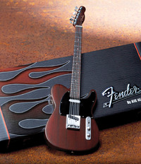 Axe Heaven - Fender Telecaster Rosewood Finish Miniature Guitar (Collectible Mini Instrument) - Cover