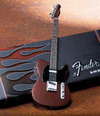 Axe Heaven - Fender Telecaster Rosewood Finish Miniature Guitar (Collectible Mini Instrument)