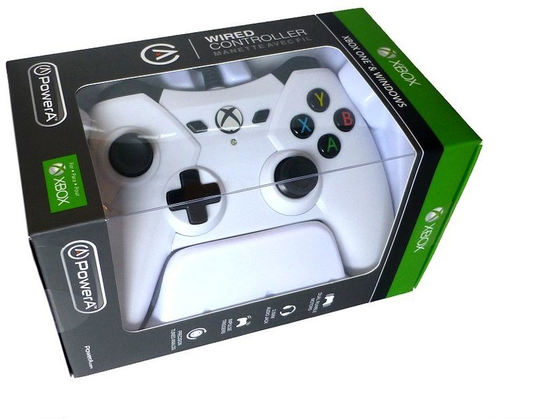 PowerA - Wired Controller with 3 5mm Audio Jack - White (Xbox One)