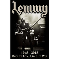 Lemmy Lived to Win Textile Poster