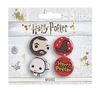 Harry Potter - Chibi Hagrid / Hat / Dobby Badges (Set of 3)