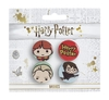 Harry Potter - Chibi  Ron / Draco / Harry Broom Badges (Set of 3)