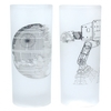 Star Wars - Death Star & AT-AT Line Art Glasses (Set of 2)