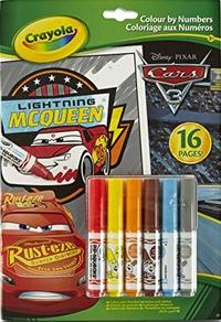 Crayola - Lightning Mcqueen - Disney Pixar Cars 3 Colour By Numbers Book - Cover