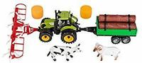 Idena Straw Tractor Set with Trailer for Wood Turner - Cover