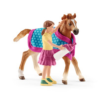 Schleich - Foal With Blanket Figure - Cover