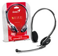 Genius HS-M200C On-Ear Headset with Microphone - Black - Cover