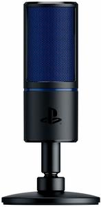 Razer - Seirēn X for PS4: Gaming Condenser Microphone - Built-in shock absorption - Professional-quality streaming microphone (PS4)
