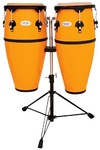 Toca Synergy Series Fiberglass Conga Set with Stand - Yellow (10 Inch Quinto and 11 Inch Conga)