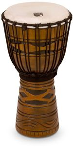 Toca Origins Series Rope Tuned 10 Inch African Mask Wood Djembe (Natural) - Cover