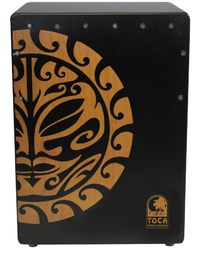 Toca Extended Range Tiger Mask Cajon - Black (19.5 x 14 x 11.5 Inch) - Cover