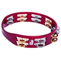 Toca ColorSound 10 Inch Double Row Tambourine (Red) - Cover