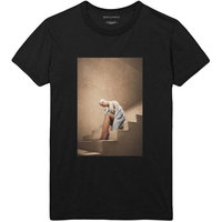Ariana Grande - Staircase Mens Black T-Shirt (X-Large) - Cover
