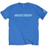 Billie Eilish - Blue Racer Logo Mens Blue T-Shirt (XX-Large) - Cover